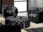 Black white chairs
