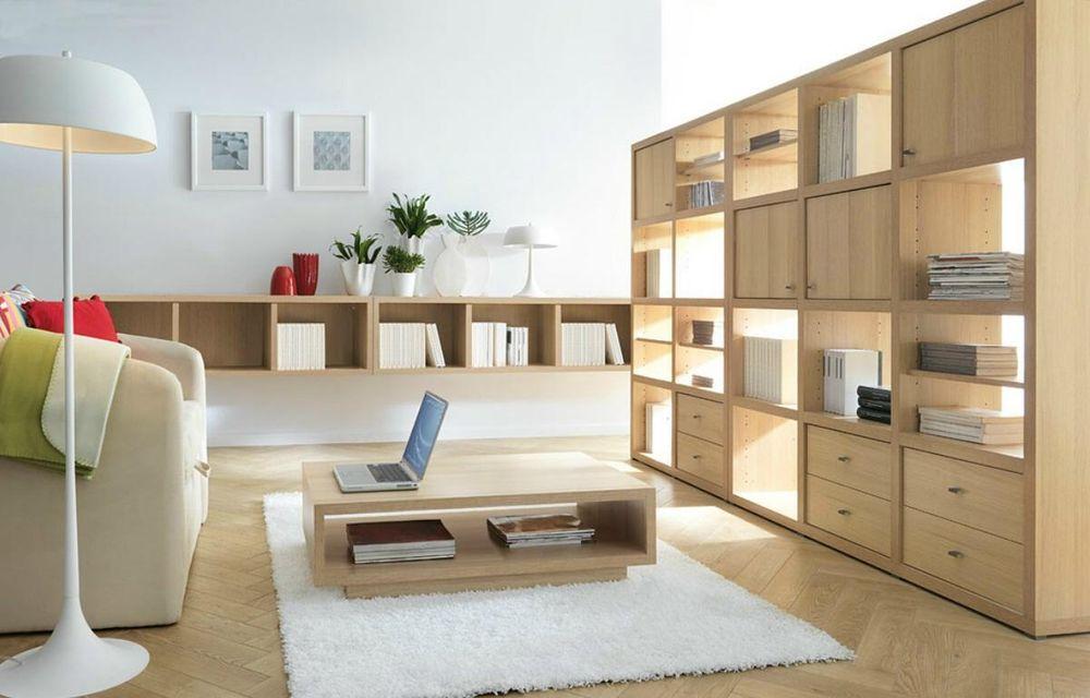 Bright wooden furniture