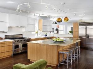 Kitchen track lighting design