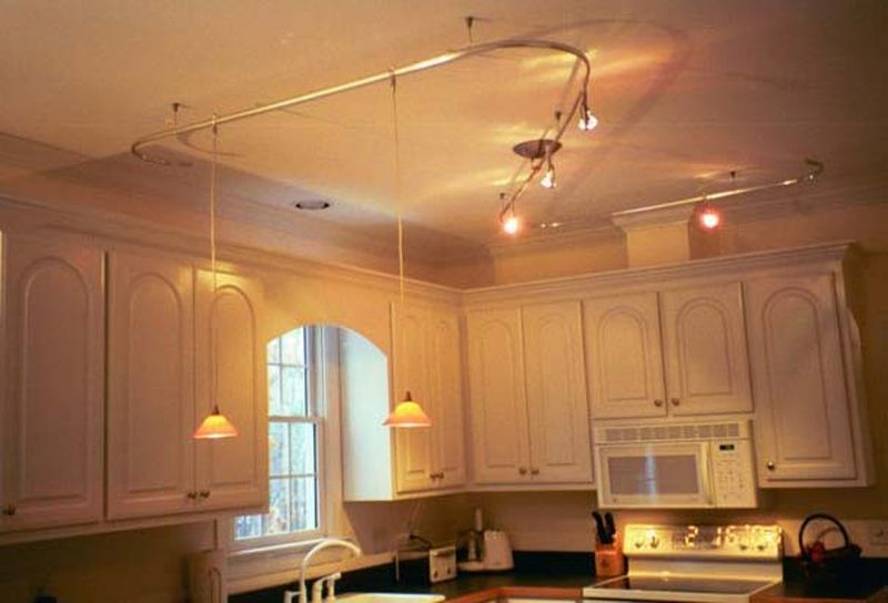 gorgeous kitchen track lighting house decoration ideas