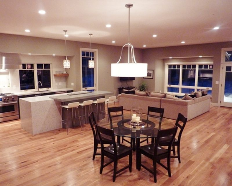 Combined Kitchen Living Room Design Ideas ~ Combined kitchen and living room designs by space