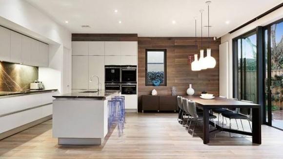 Living room kitchen together