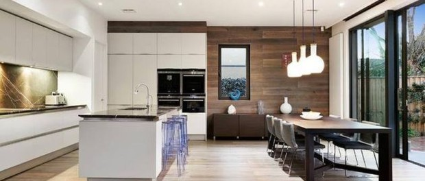 combined kitchen and dining room | Combined Kitchen And Living Room Designs By Space