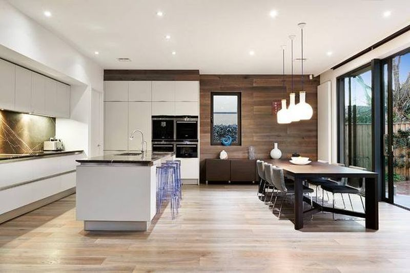 Combined kitchen and living room designs by space for Open plan dining and living room