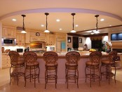 Modern kitchen chandelier