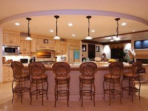 Modern kitchen chandelier