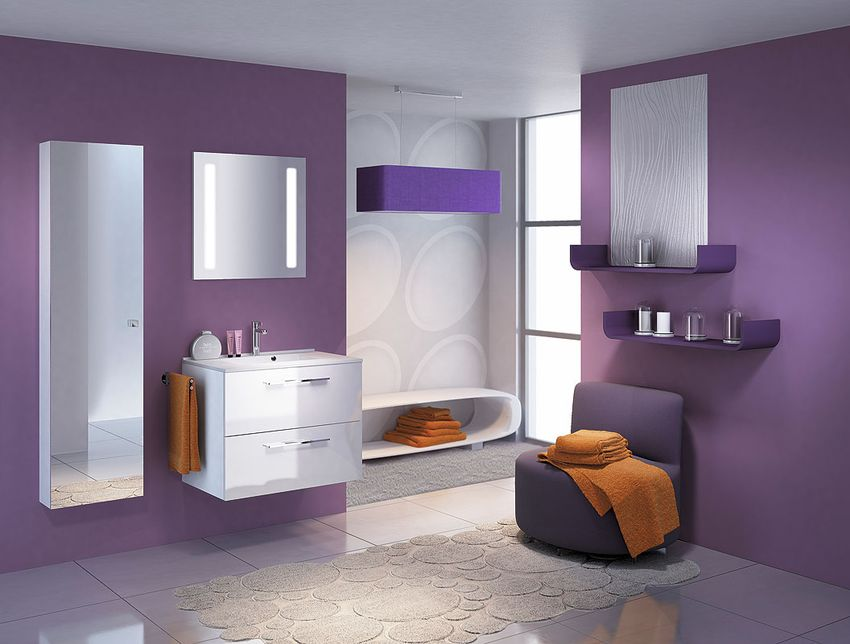 Modern small bathroom furniture
