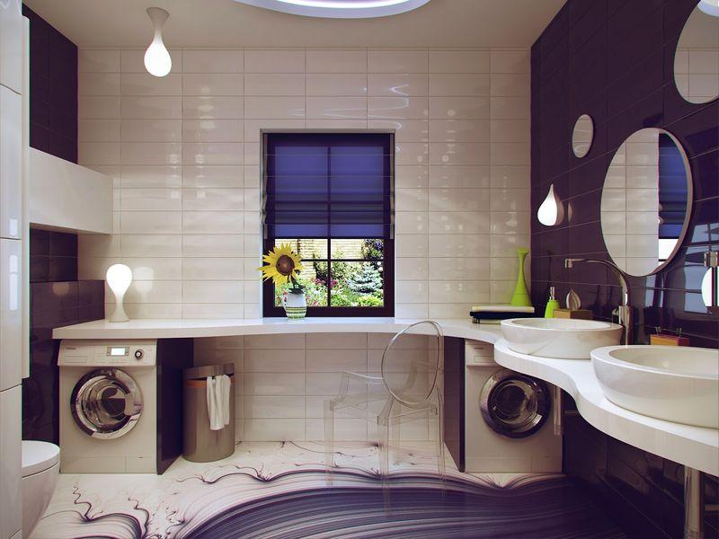 Modrn bathroom furniture idea