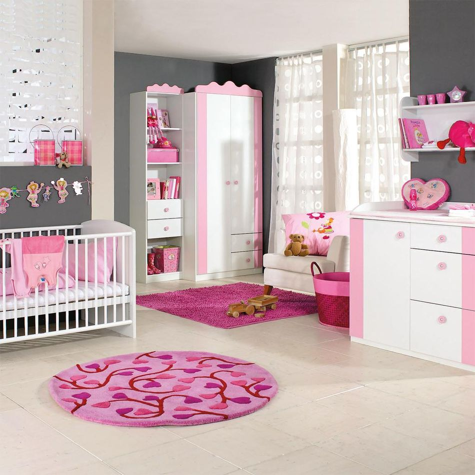 Pink black room idea