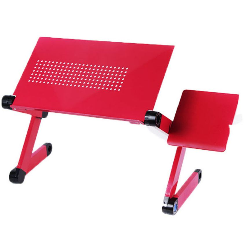 Red portable computer table