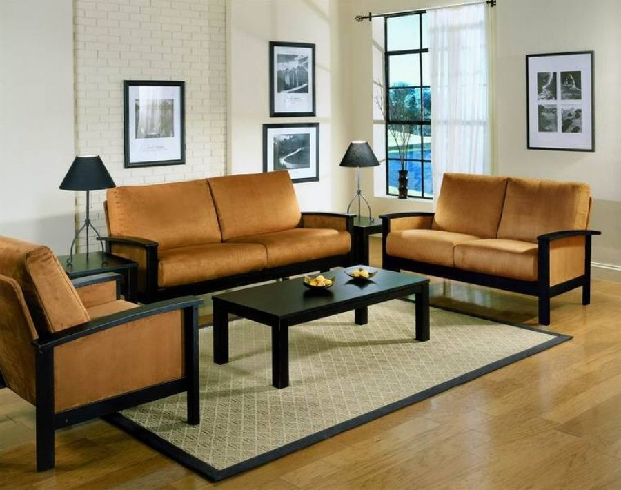 Get simple wood sofa sets for your living room house for Wood living room furniture