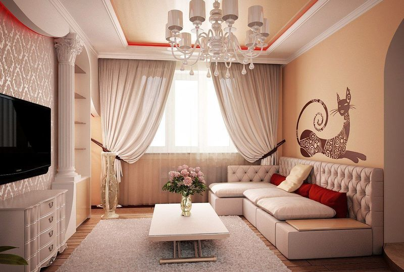 How to create beautiful interiors for small houses in the for Home decoration house design pictures