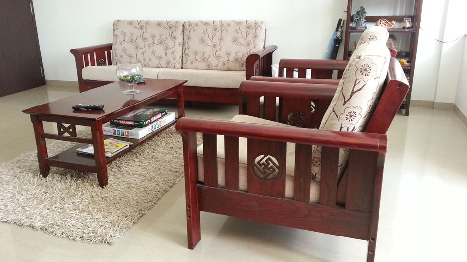 Get simple wood sofa sets for your living room house - Living room sofa sets decoration ...