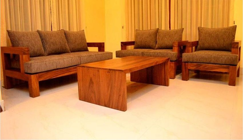 Wooden Sofa Set ~ Traditional wooden sofa set design house decoration ideas