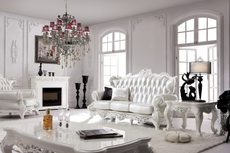 White leather furniture design