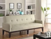 White wooden sofa