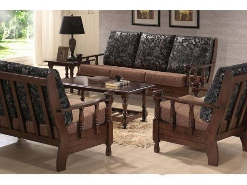 Wooden Sofa Sets ~ Simple wooden sofa sets for living room