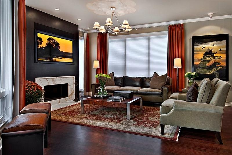 living room in spring