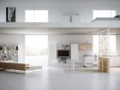 Contemporary loft bedroom