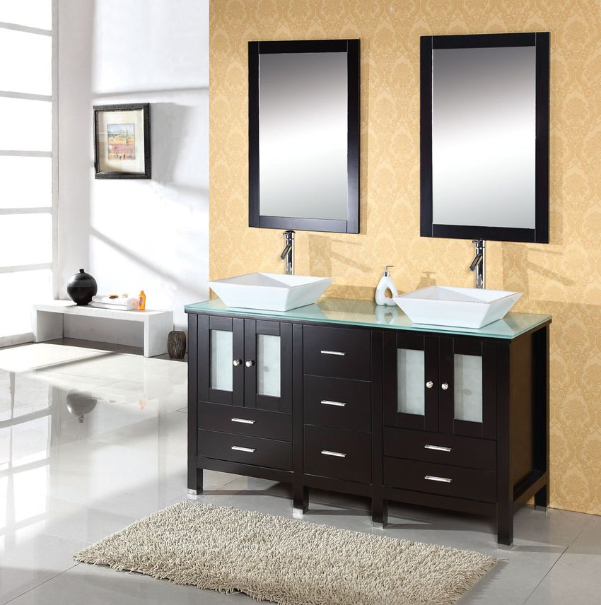 Double Sink Bathroom Interior Design Ideas