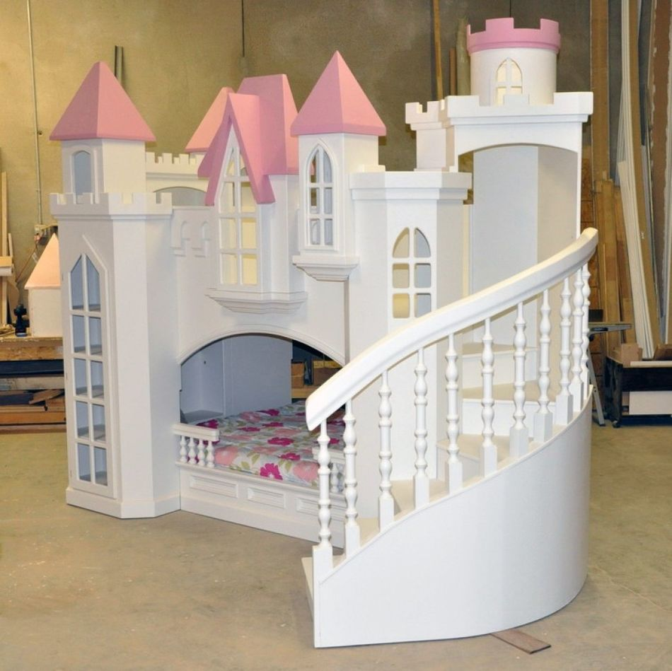Girls Toddle Bed Castle
