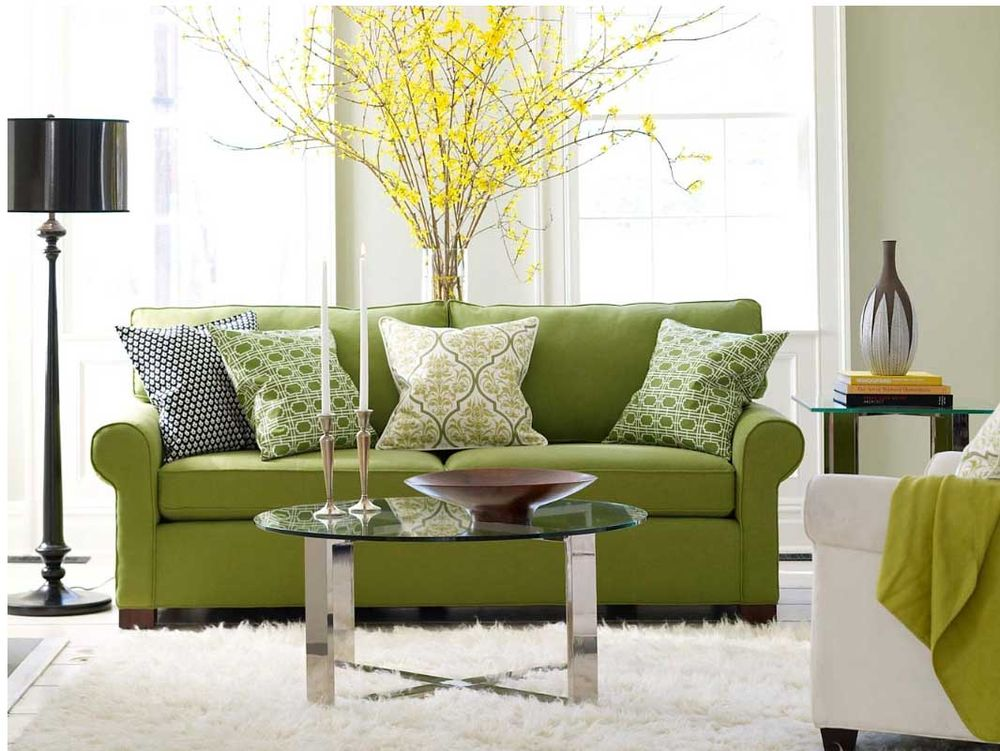 living room green sofa living room design with sofa pillows house decoration ideas 12775