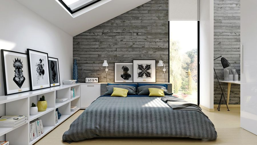 bright modern loft bedroom design and decor ideas. Black Bedroom Furniture Sets. Home Design Ideas