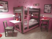 Pink toddler bunk bed