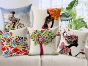 Pretty sofa pillows