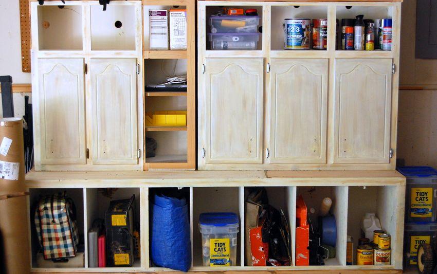 Kitchen cabinets in garage