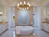 Lavishly designed  bathroom