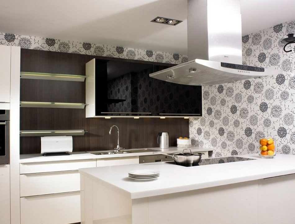 Luxurious kitchen wallpaper