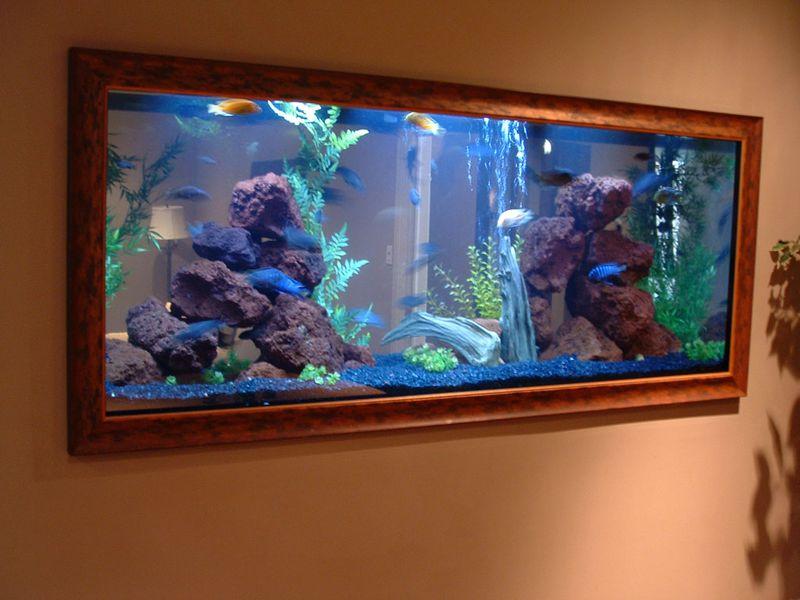 Apartment decorating with aquarium