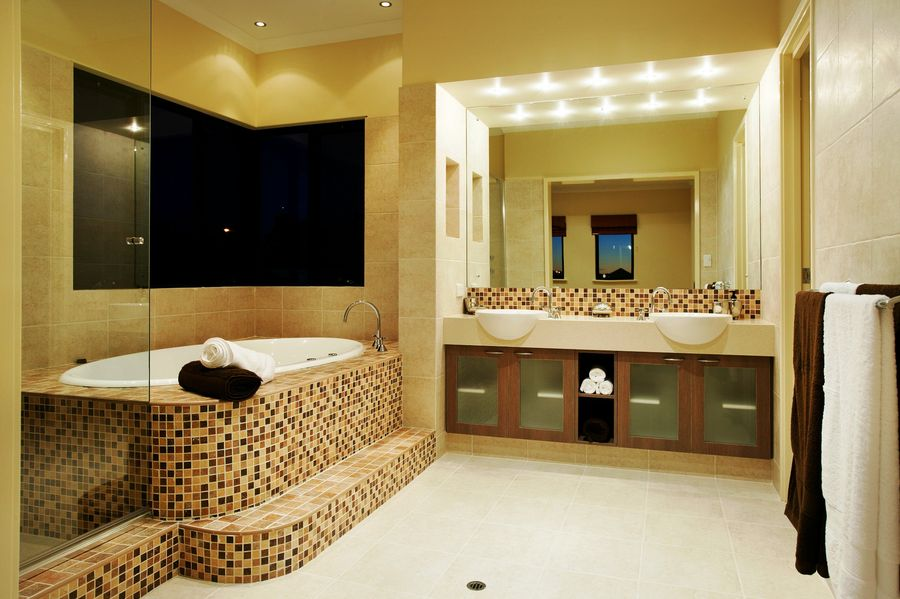 Bathroom Interior Small Tiles Design
