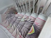 Beautiful carpet stairs