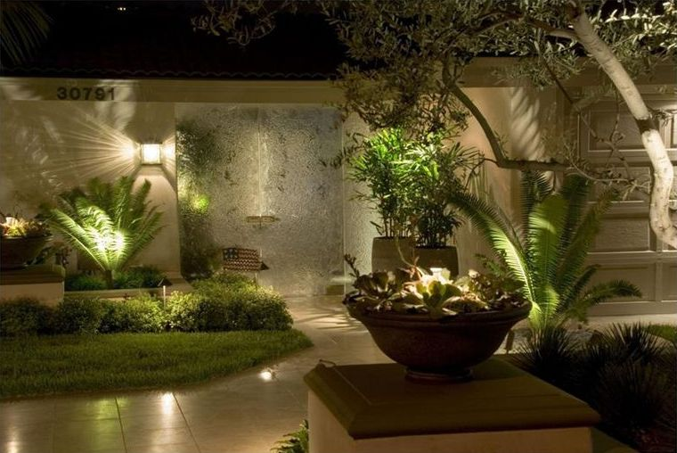 Beautiful garden lighting
