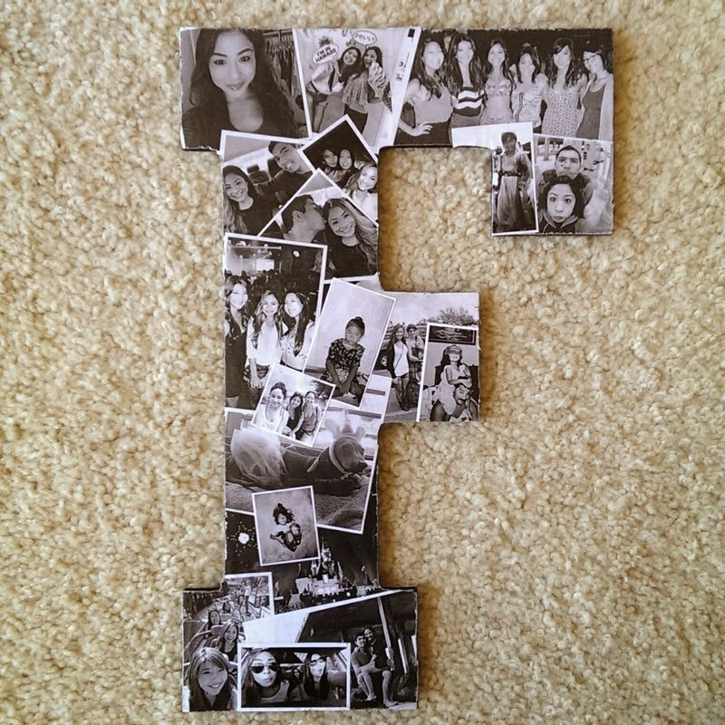 Great Decor Idea Homemade Collage Picture with Letters