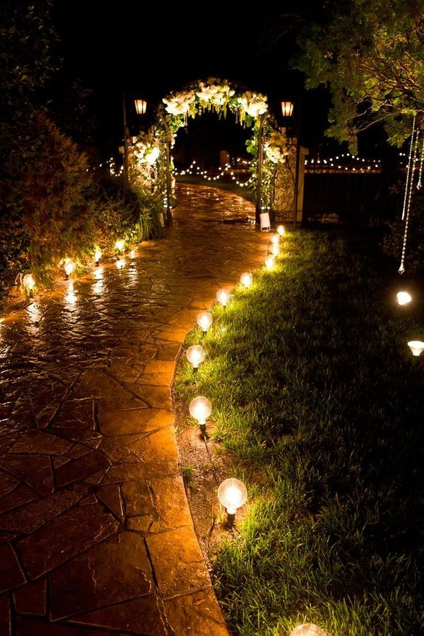 Lighting idea for garden