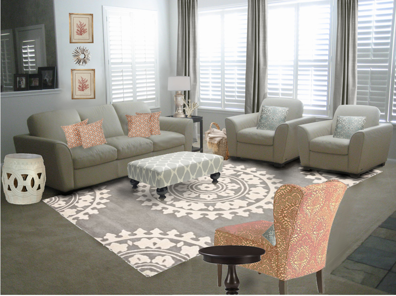 How To Reconcile Living Room Curtains And Rug Sets With Simple Tips