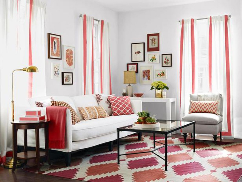 Living Room Rug Curtains
