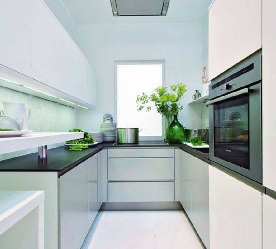 Kitchen cabinets design ideas for small space for Short kitchen design