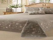 Brown bedroom bedspread design1