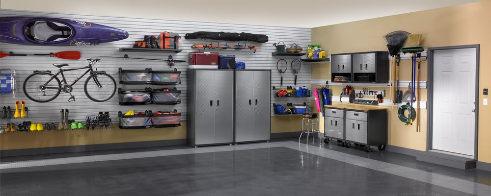 best garage shelving three garage storage ideas for big family 12067