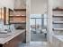 Bathroom shelves design