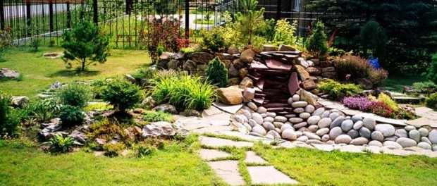 Landscaping Ideas For Flat Front Yard : The best front yard landscaping with stones for your house