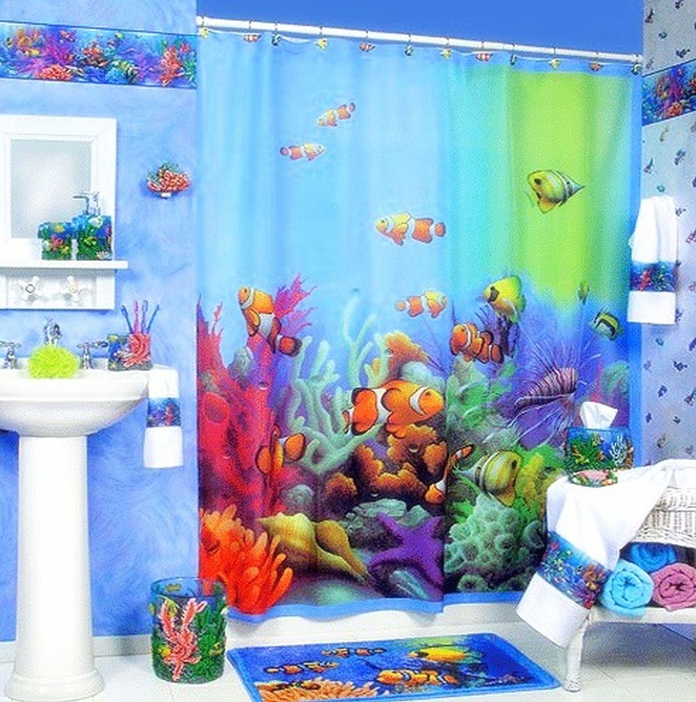 Well Suggested Colorful Kids Shower Curtain Design