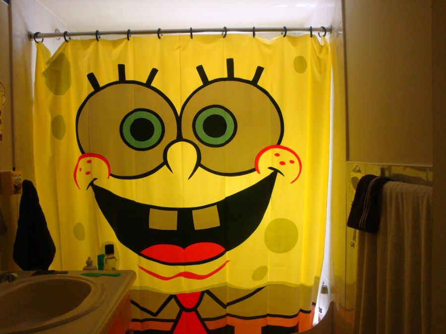 Well-Suggested Colorful Kids Shower Curtain Design