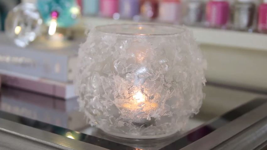 Homemade Christmas candle idea