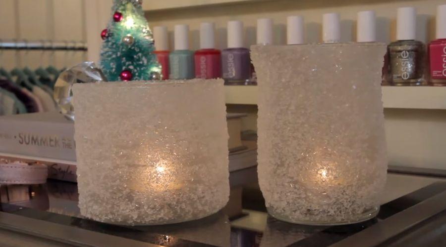Homemade Christmas candles