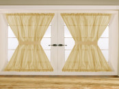 Kitchen door curtain design